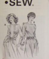 1980 Kwik Sew 1133 Pattern Vintage Size 6 8 10 12 Dress Long Sleeve Uncut