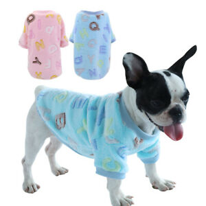Dog-Sweater-Soft-Flannel-Pajamas-Chihuahua-Clothes-Pet-Puppy-Cat-Vest-Warm-Coat