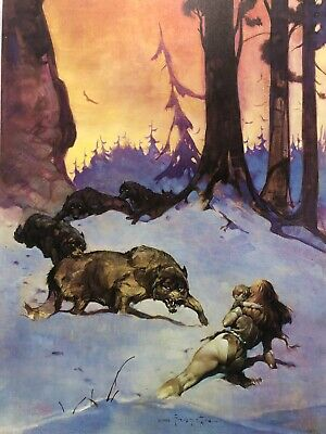 FRANK FRAZETTA Wolfman No 7  FANTASY Litho PRINT 17 X 23 Vintage Prints
