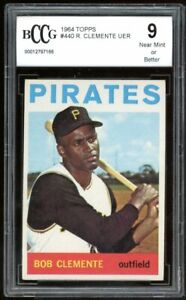 1964 Topps #440 Roberto Clemente Card BGS BCCG 9 Near Mint+