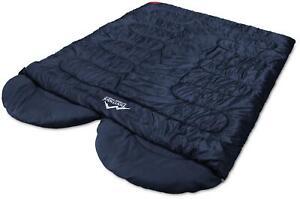 Doppelschlafsack 2 Personen Camping Deckenschlafsack Outdoor Paar-Schlafsack