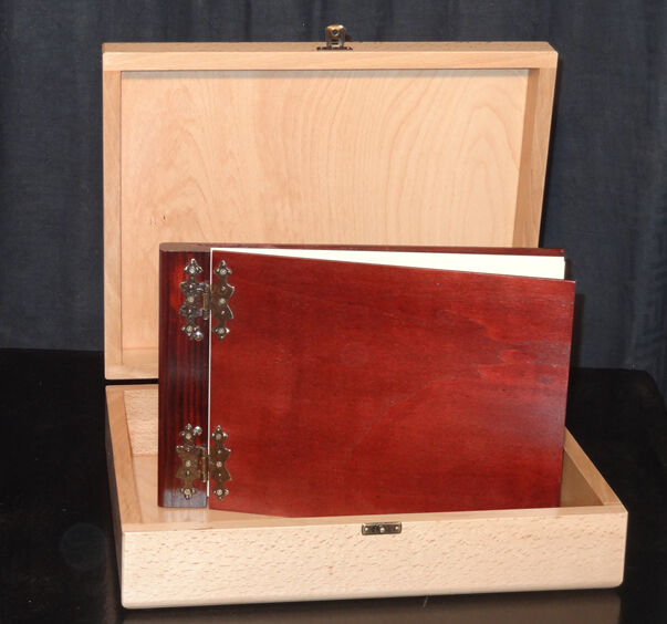 Gästebuch , Fotoalbum aus aus aus Holz mit Holzschatulle ,Neuware bef46b