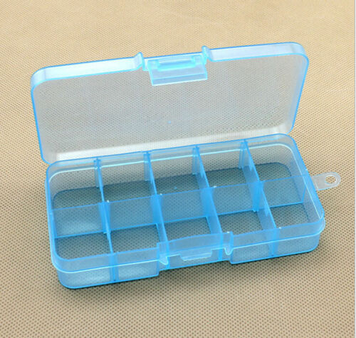 10 Grid Slot Plastic Jewelry Adjustable Box Case Craft Organizer Storage Beads