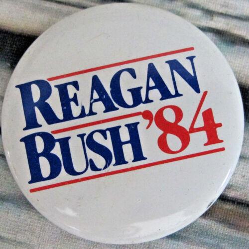 Presidential Pin Back Reagan Bush Campaign Button 1984 Republican Candidate