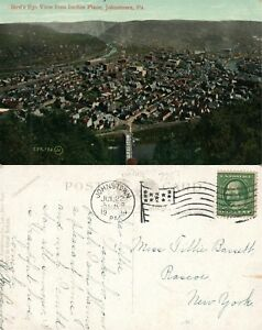 JOHNSTOWN-PA-VIEW-FROM-INCLINE-PLANE-1909-ANTIQUE-POSTCARD