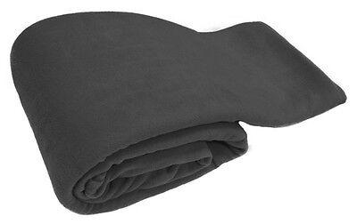 Grey Luxury Warm Soft Large 225cm x 254cm Fleece Sofa Couch Bed Blanket Throw
