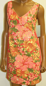 952e9b4f96296 Tracy Feith Dress Hibiscus Floral Orange Coral Target NWTS Size 1   eBay