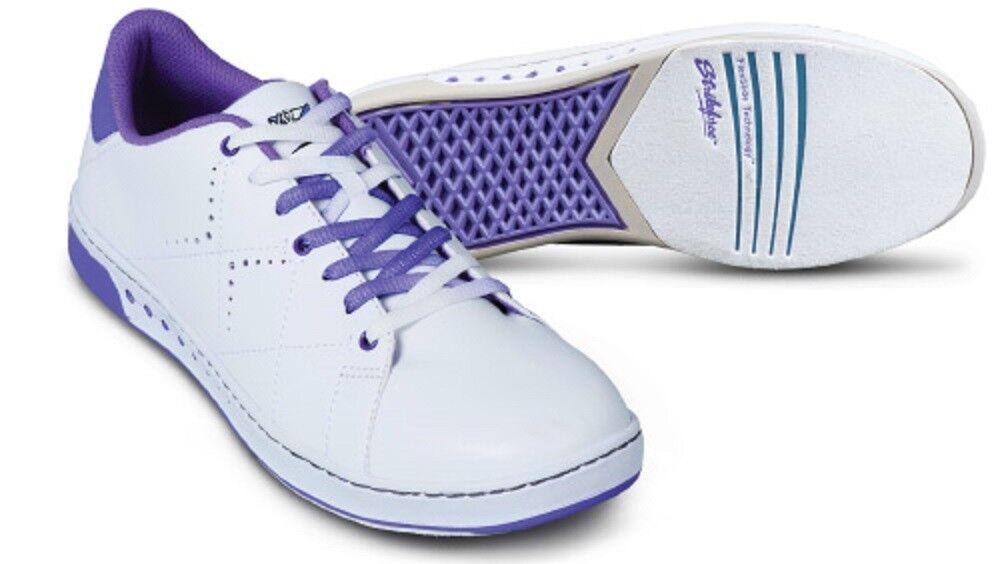 Womens KR Strikeforce GEM Bowling shoes color White & Purple Sizes 5-11