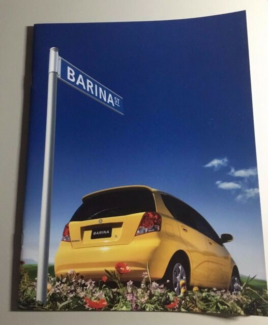 Holden Barina Brochure 18 page full color