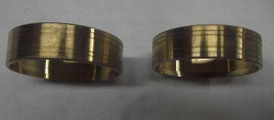 2 pcs Alto sax repair parts Brass unpainted