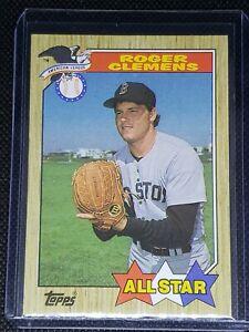 1987 Topps Baseball #614 Roger Clemens {Boston Red Sox} AS