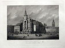 Frankfurt / Oder Rathaus. Originaler Stahlstich um 1860