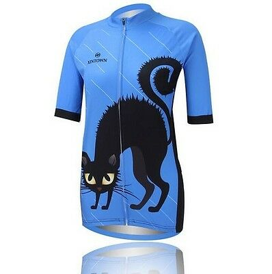 New Women's Sport Cycling Clothing Bike Bicycle Short Sleeves Cycling Jersey Top
