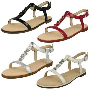 Details about SALE CLARKS BAY BLOSSOM LADIES DRESSY FLAT SANDAL