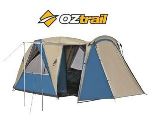 Caricamento dellu0027immagine in corso NEW-Oztrail-4V-PLUS-Breezeway-Dome-TENT -4-  sc 1 st  eBay & NEW Oztrail 4V PLUS Breezeway Dome TENT - 4 Man Person Camping ...
