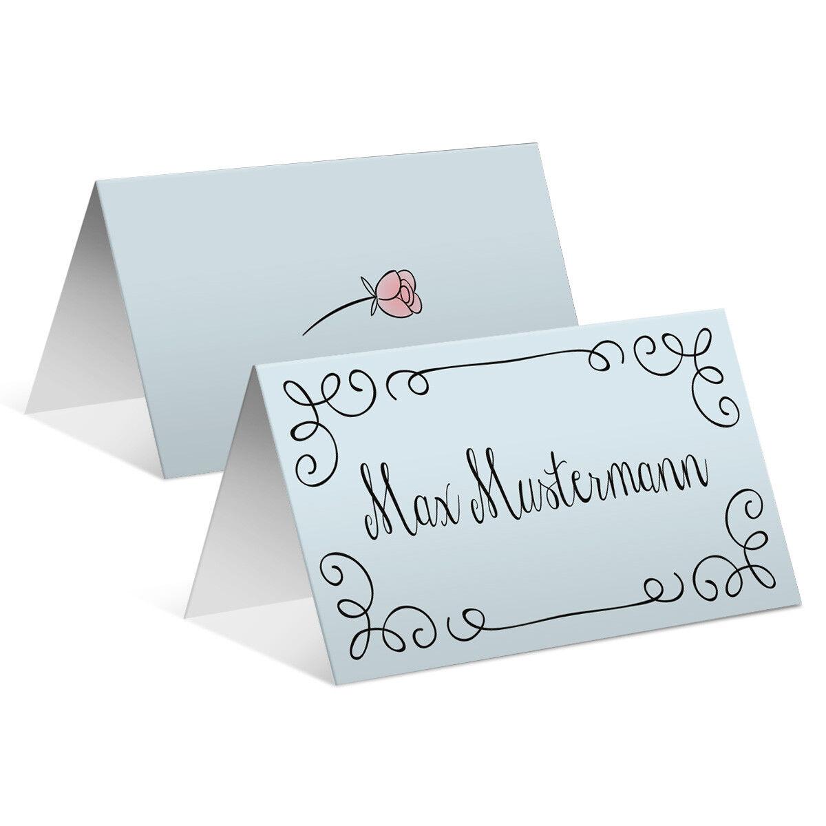 Hochzeit Tischkarten Platzkarten Namenskarten Karten individuell Küssendes Paar   Nutzen Sie Materialien voll aus    Exzellente Verarbeitung
