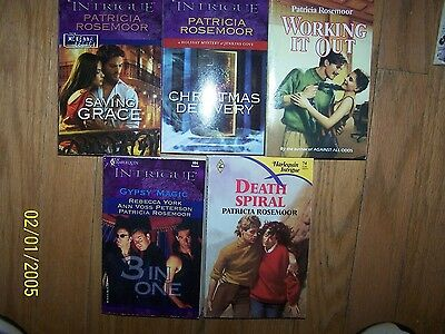 Lot 5 different Patricia Rosemoor Books Soft Cover Romance Books