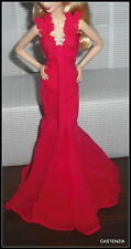 DRESS BARBIE GO RED FOR WOMEN DOLL MODEL MUSE RED EVENING GOWN CLOTHING ITEM