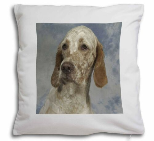 English Setter Soft Velvet Feel Cushion Cover With Inner Pillow AD-ES1-CPW
