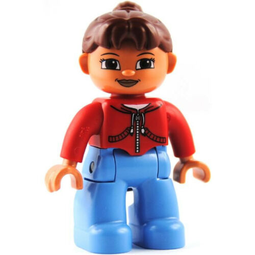 LEGO® Duplo Figur Frau rotes Shirt NEU