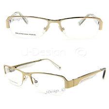 BALENCIAGA PARIS BAL0061 G0A Gold size 52/16/135 half rimless Eyeglasses - New
