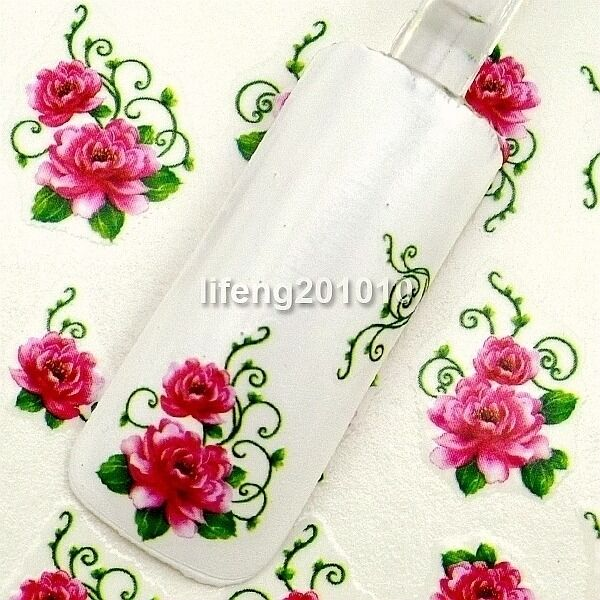 water transfer nail stickers decals nail art decoration tool Flower Design 1710