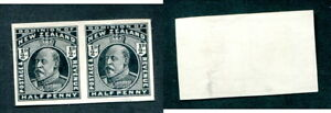 New-Zealand-1-2d-Imperf-Proof-Pair-Lot-13693
