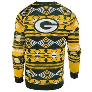 Green Bay Packers Aztec Ugly Christmas Sweater New All Sizes Awesome