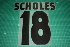Manchester United 98/99 #18 SCHOLES UEFA Chaimpons League Awaykit Nameset Print