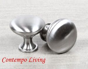 stainless steel knobs for kitchen cabinets solid stainless steel brushed nickel finish kitchen 26642