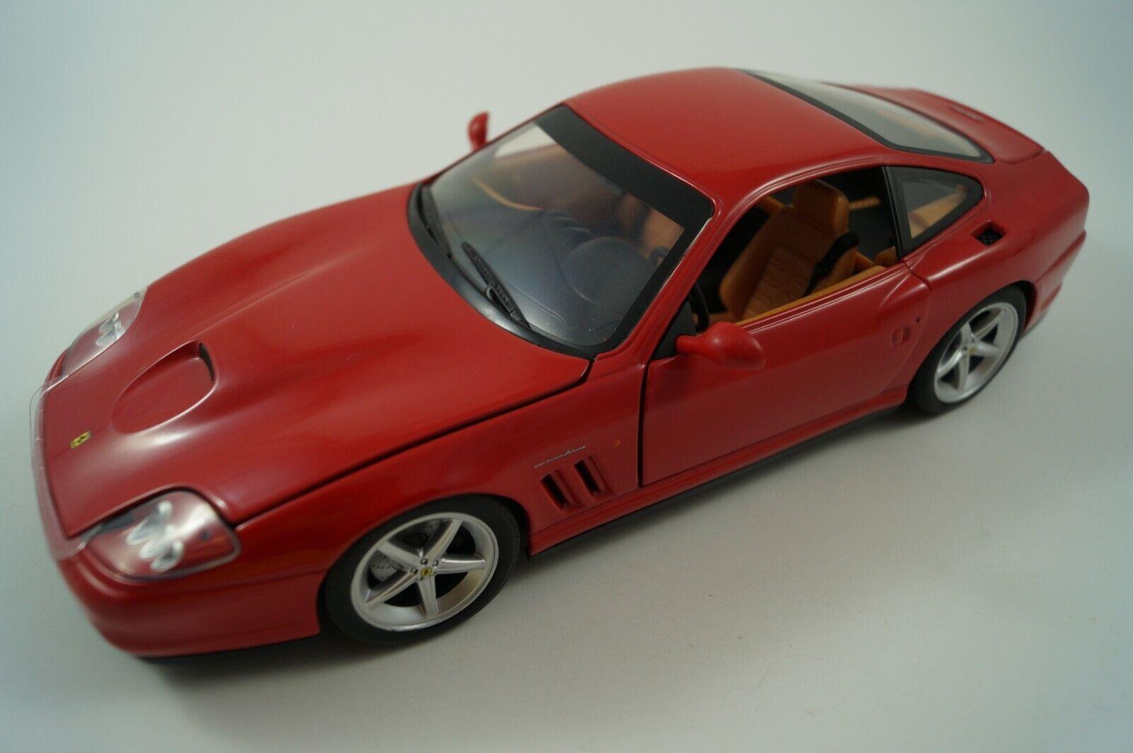 Hot Wheels Model Car 1 18 Ferrari 575 MM