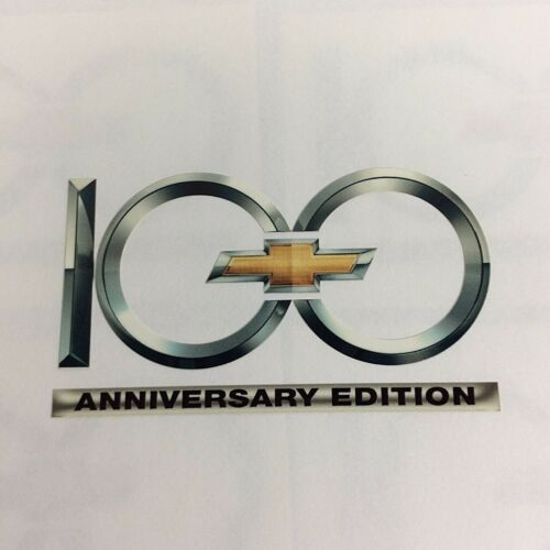 Chevy 100 Anniversary Edition OEM Genuine GM Window Wall Decal Chevy Truck Pride