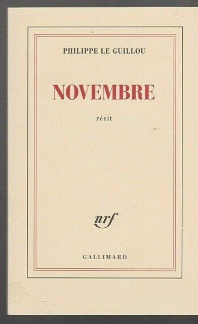 NOVEMBRE récit Philippe Le Guillou Attentats 2015