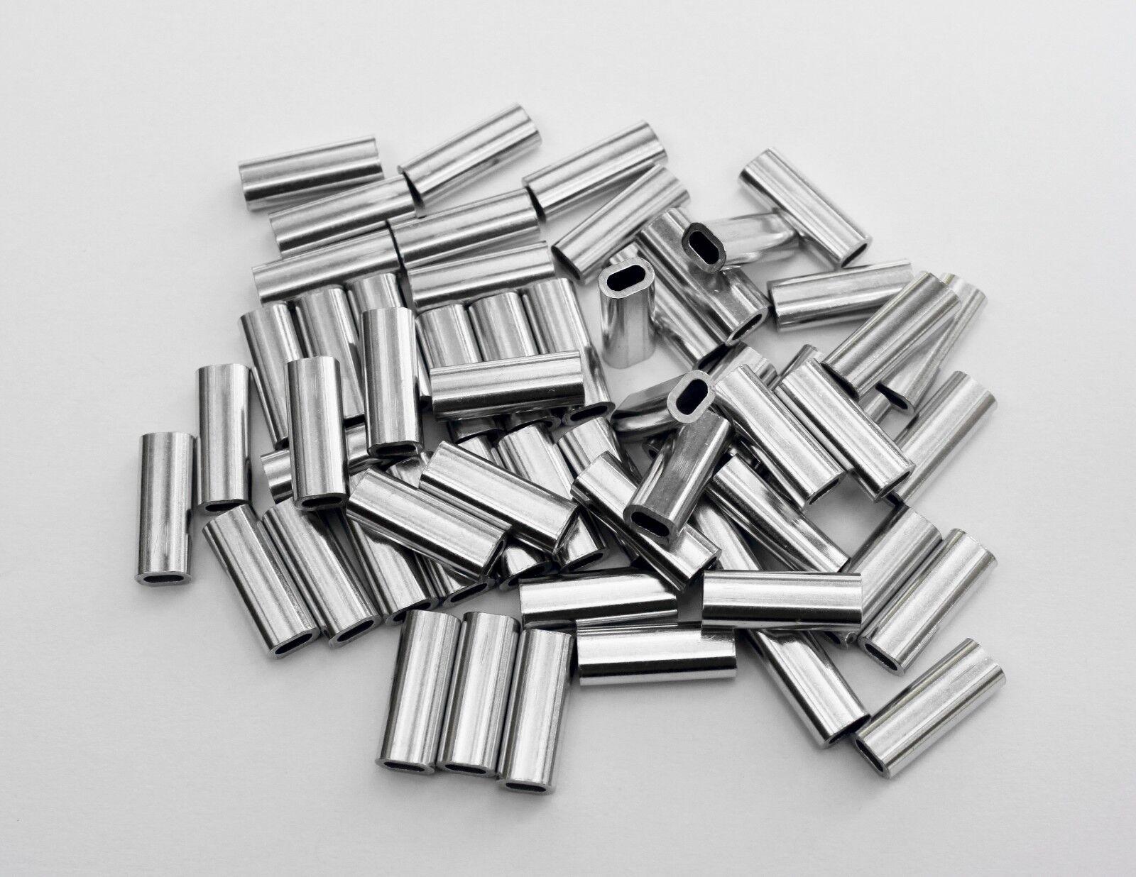 COT Aluminum Oval Sleeve mm Crimps 2.3 mm Sleeve 400-450 lb - 1000pk e80e1e