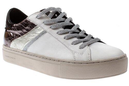 Crime London 25345A17 white-10 Damen Schuhe Sneaker Schnürer