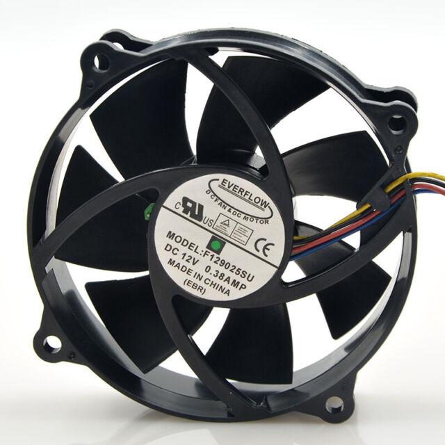 80mm x25mm CPU fan 12V 4Pin 0.38A F129025SU # For EVERFLOW F129025SU 90