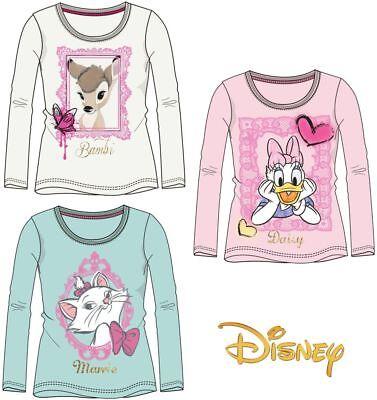 Beliebte Marke ♥ Bambi Marie Daisy T-shirt Shirt Langarm Kinder Disney Größe 92-128 ♥
