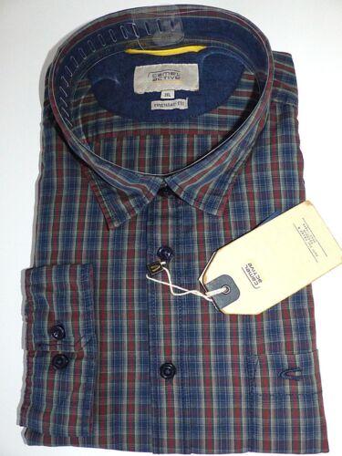 CAMEL Active Camicia Manica Lunga a Quadri misure grandi 4xl 5xl NUOVO UVP 59,95-69,95