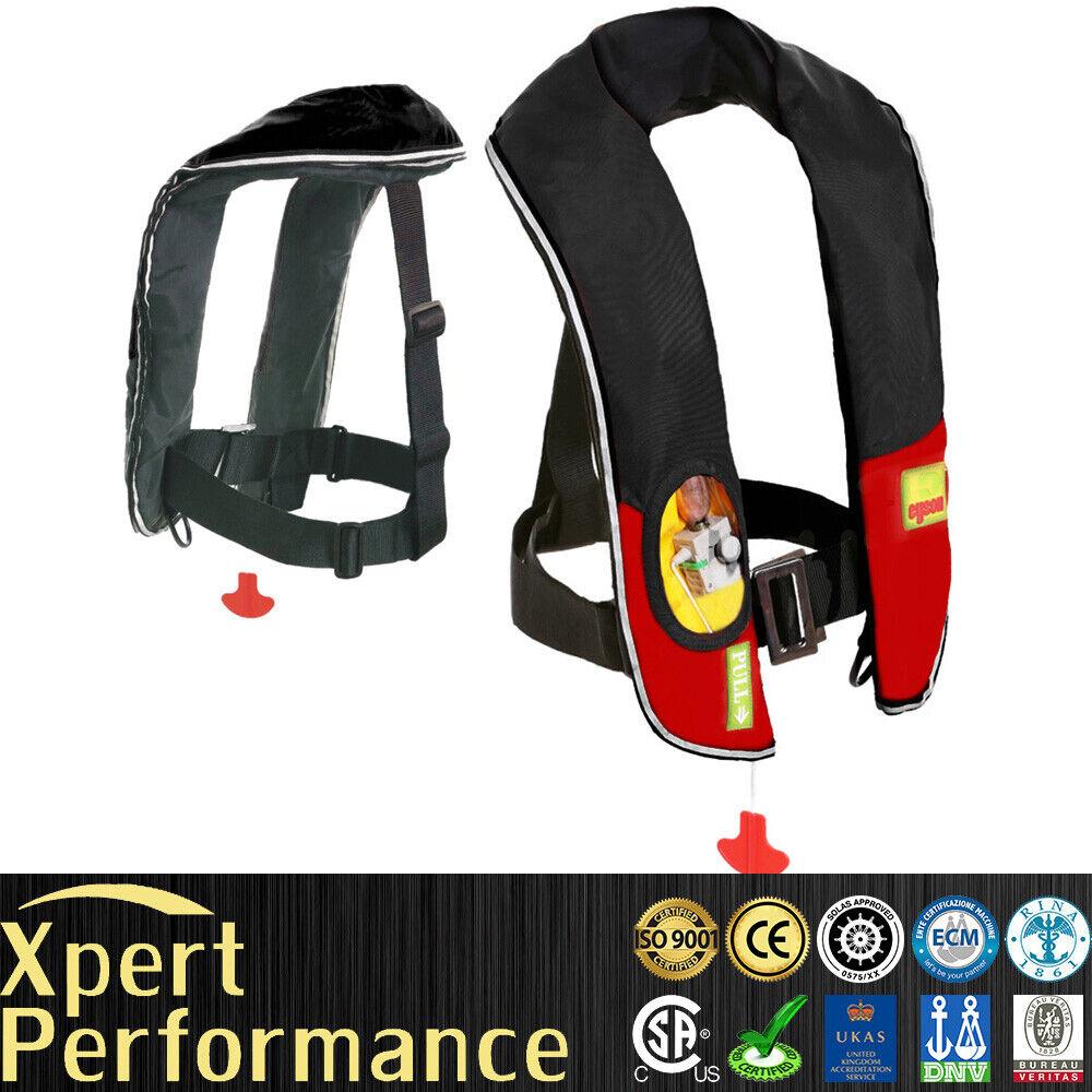 Nieuwe Premium M-33 CO2 manual Inflatable PFD Life Jasje Vest Preserver