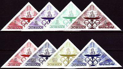 Briefmarken Schneidig Jordanien Jordan 1965 ** Mi.473/80 B Olympische Spiele Olympic Games Fackel