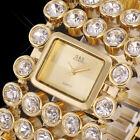 Luxury Lady Women's Silver Gold Bling Quartz Rhinestone Crystal Wrist Watch New
