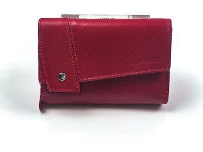 Obbiettivo Portafoglio Donna Portafoglio Portafogli Carte Scomparti Echt Leder Finemente Wallet Rosso-mostra Il Titolo Originale