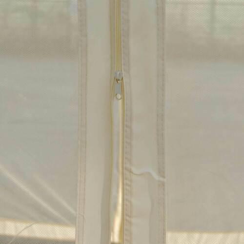 Pergola Calpe 7cm-Gestell mit Seitenwand Garten Pavillon Moskitonetz 4x4m