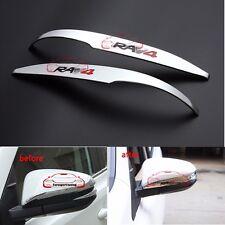 Chrome ABS Rear Mirror Molding Trim Cover Strip for Toyota RAV4 logo 2013-2016