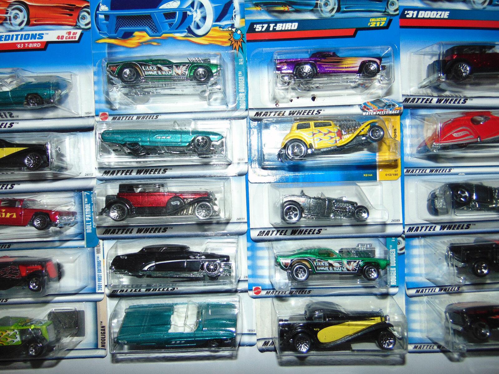 30) HOT WHEELS 1 64 HW DIECAST CAR ALL Oldies Oldies Oldies Hot Rods Classics redline Lot Set 9c8540