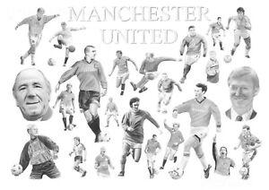 Manchester United /'Legends/' Print