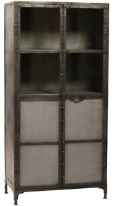 Industrial Design Steel /Glass Bakers Rack Cabinet/ Bookcase,33 x 68