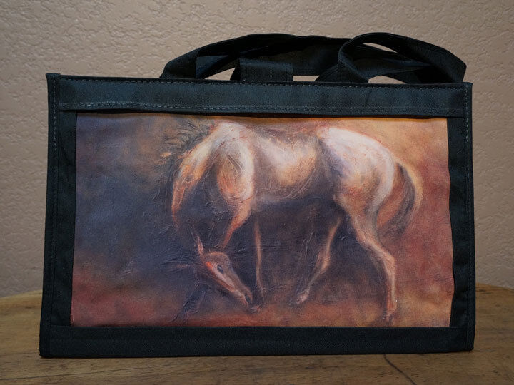 Tote Bag - Canvas with Horse Art