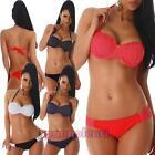 Bikini donna costume spiaggia piscina set pois pinup due pezzi nuovo S16102
