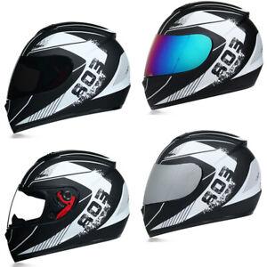 DOT-Motorcycle-Helmet-Full-Face-w-Sun-Visor-Motocross-Racing-Cruiser-Street-Bike